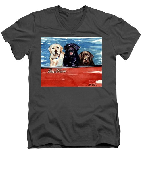 Whole Crew Men's V-Neck T-Shirt by Molly Poole
