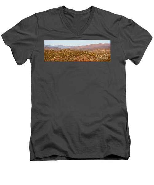 Wickenburg Mountains Men's V-Neck T-Shirt by Suzanne Oesterling