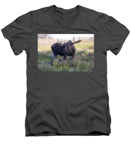 Wide Guy Men's V-Neck T-Shirt