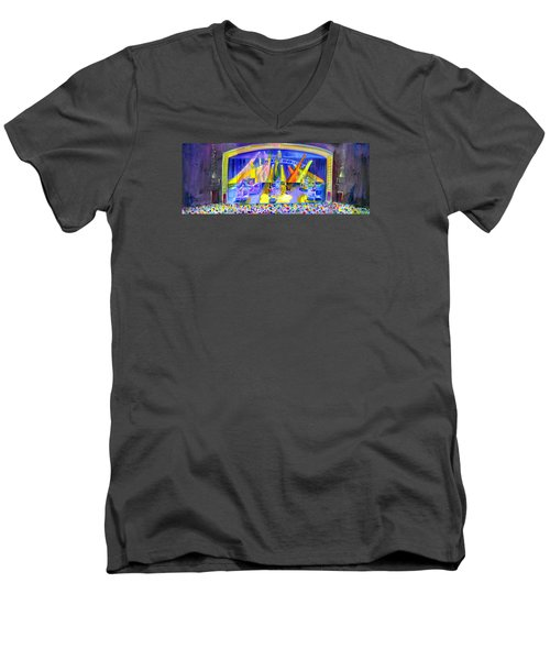 Widespread Panic Peabody Opera House Men's V-Neck T-Shirt by David Sockrider