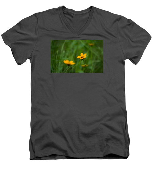 Wild And Free Men's V-Neck T-Shirt by Shelby  Young