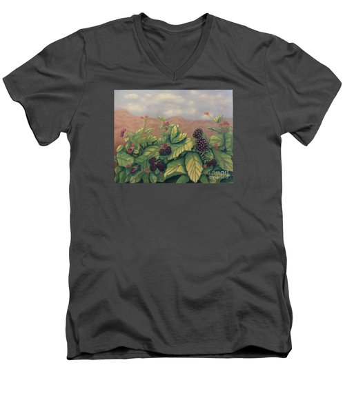 Wild Blackberries Men's V-Neck T-Shirt