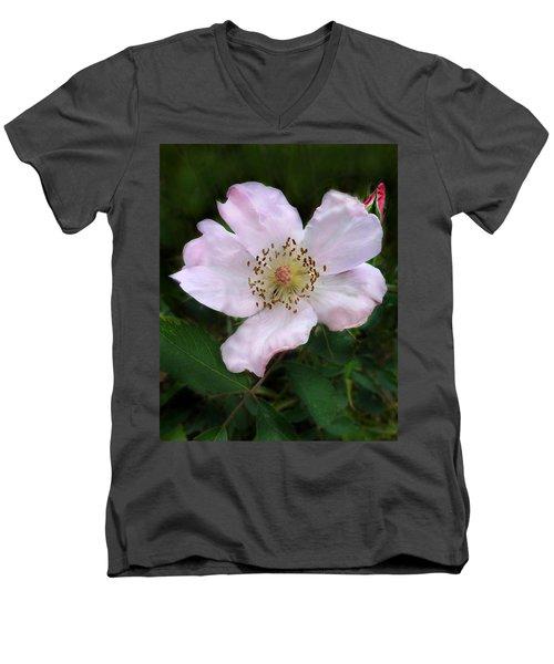 Wild Carolina Rose Men's V-Neck T-Shirt