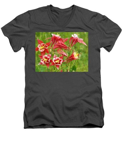 Wild Columbine 2 Men's V-Neck T-Shirt