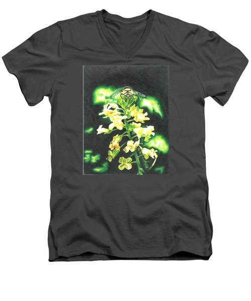 Wild Flower Men's V-Neck T-Shirt by Troy Levesque