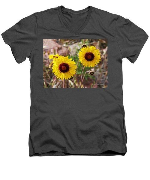 Wild Flowers Above The Rim Men's V-Neck T-Shirt by Tom Janca