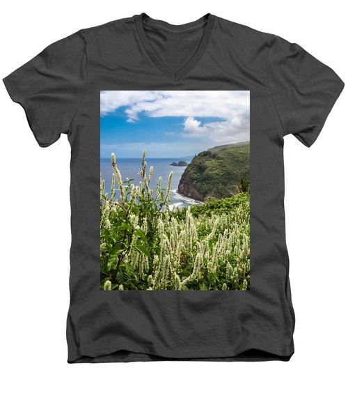 Wild Flowers At Pololu Men's V-Neck T-Shirt by Denise Bird