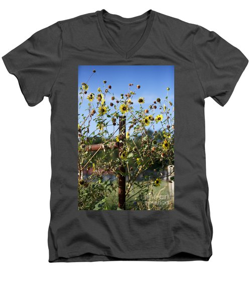 Men's V-Neck T-Shirt featuring the photograph Wild Growth by Erika Weber