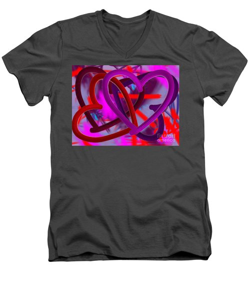 Wild Hearts Men's V-Neck T-Shirt