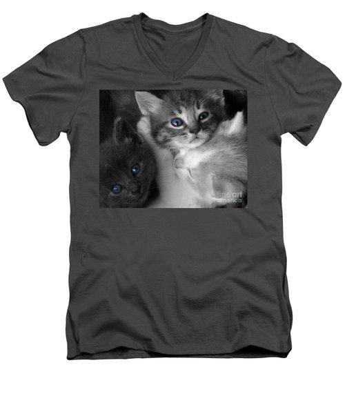 Wild Hearts Men's V-Neck T-Shirt by Liz Masoner