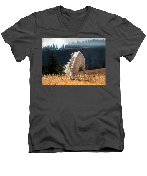Wild Horse Cloud Men's V-Neck T-Shirt