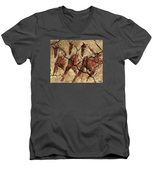 Wild Horses - Cave Art Men's V-Neck T-Shirt