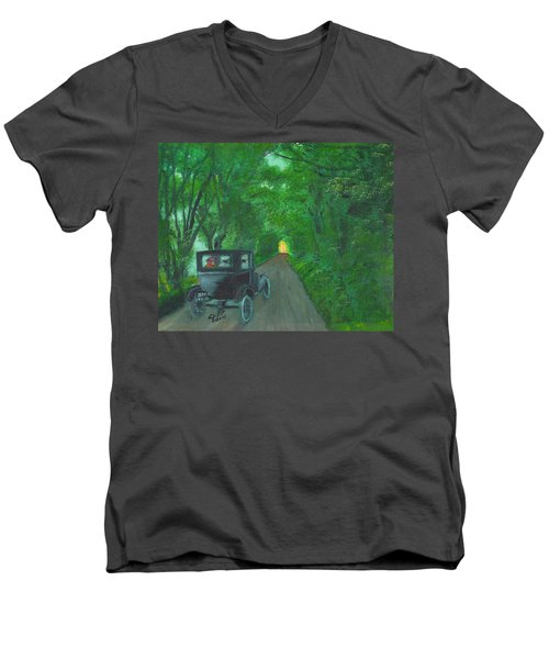 Wild Irish Roads Men's V-Neck T-Shirt