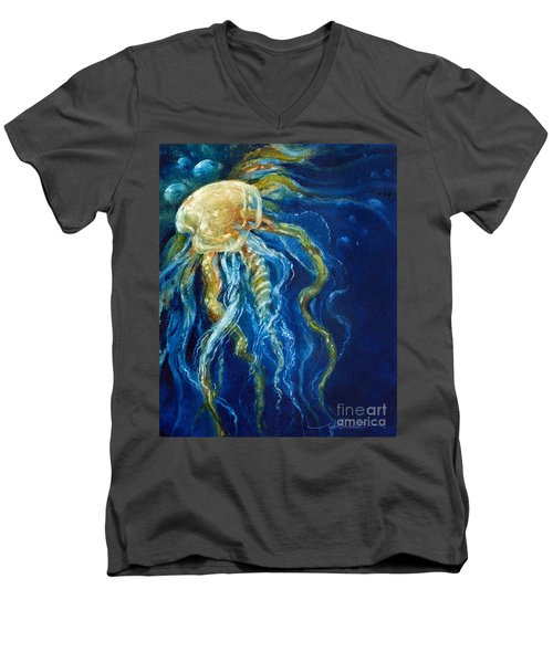 Wild Jellyfish Reflection Men's V-Neck T-Shirt