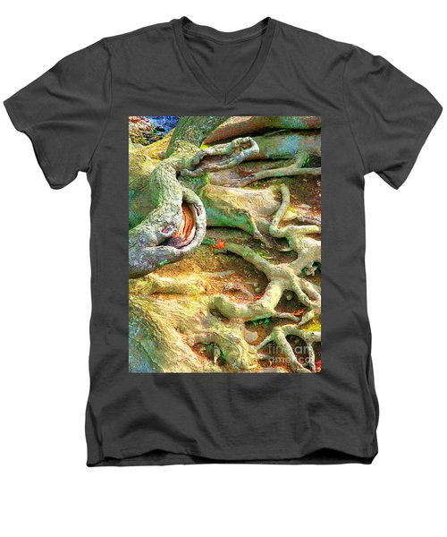 Wild Roots By Christopher Shellhammer Men's V-Neck T-Shirt