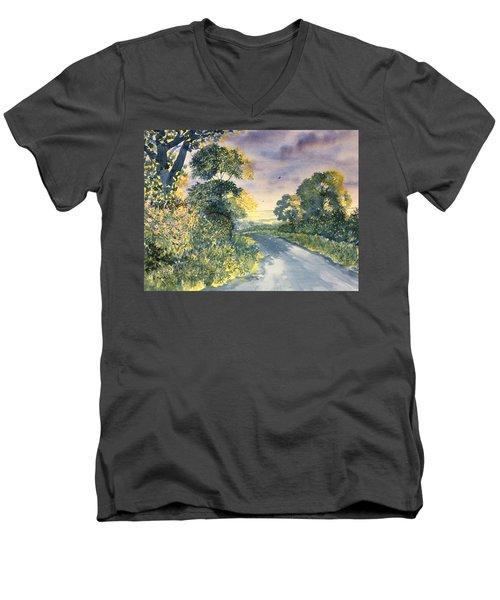 Wild Roses On The Wolds Men's V-Neck T-Shirt
