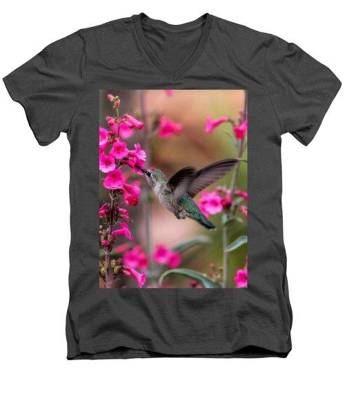 Wild Thing Men's V-Neck T-Shirt by Tammy Espino