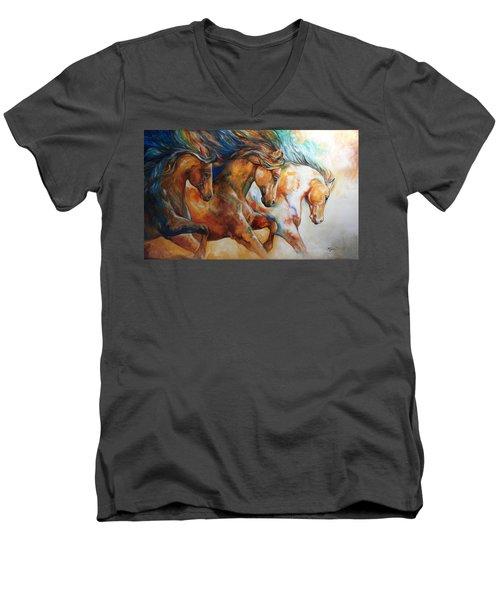 Wild Trio Run Men's V-Neck T-Shirt