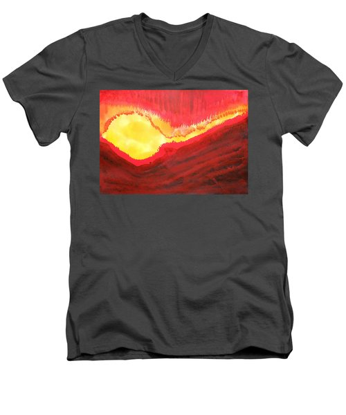 Wildfire Original Painting Men's V-Neck T-Shirt