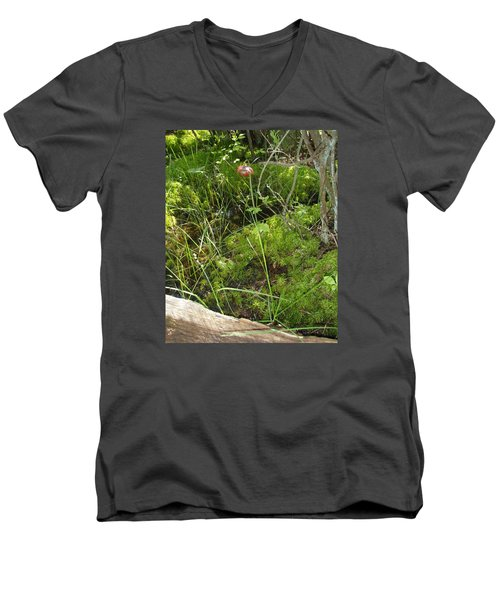 Men's V-Neck T-Shirt featuring the photograph Wildflower 1 by Robert Nickologianis