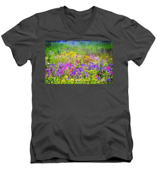 Wildflower Beauty  Men's V-Neck T-Shirt