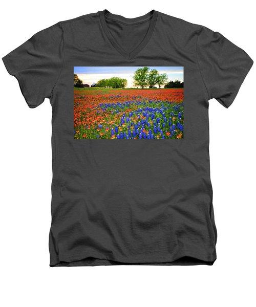 Wildflower Tapestry Men's V-Neck T-Shirt