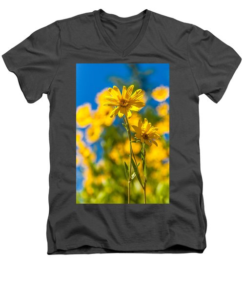 Wildflowers Standing Out Men's V-Neck T-Shirt