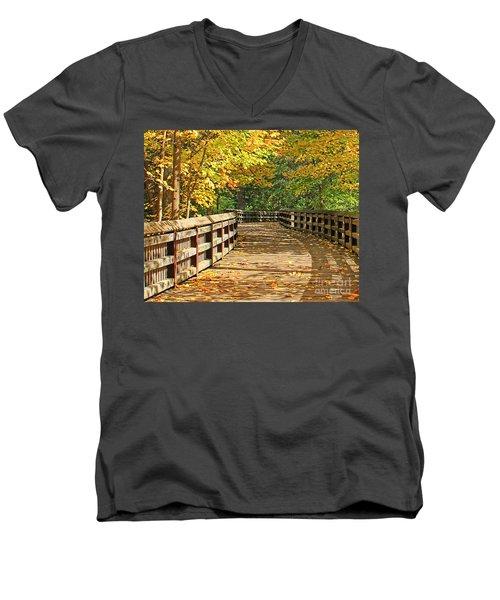Wildwood Boardwalk Corrected Men's V-Neck T-Shirt