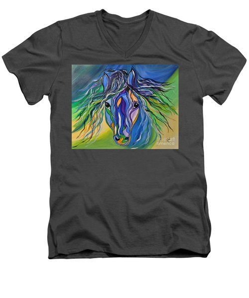 Willow The War Horse Men's V-Neck T-Shirt