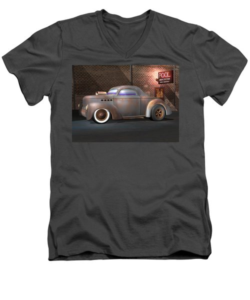Willys Street Rod Men's V-Neck T-Shirt by Stuart Swartz