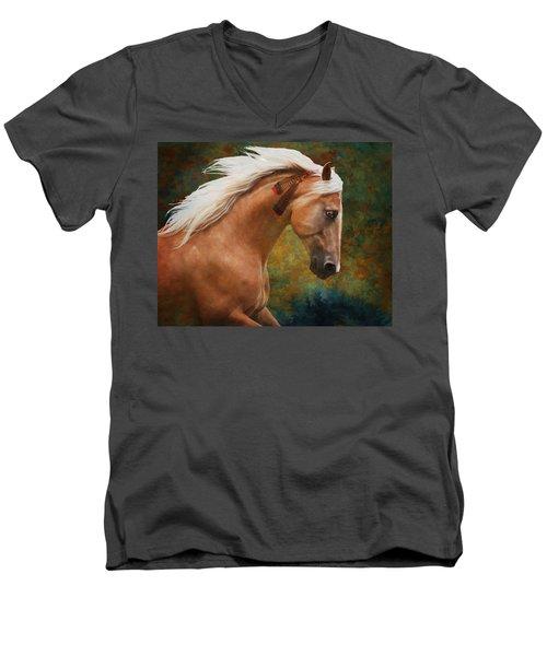 Wind Chaser Men's V-Neck T-Shirt by Melinda Hughes-Berland