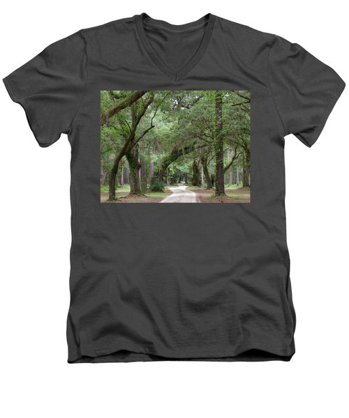Winding Dirt Road Men's V-Neck T-Shirt