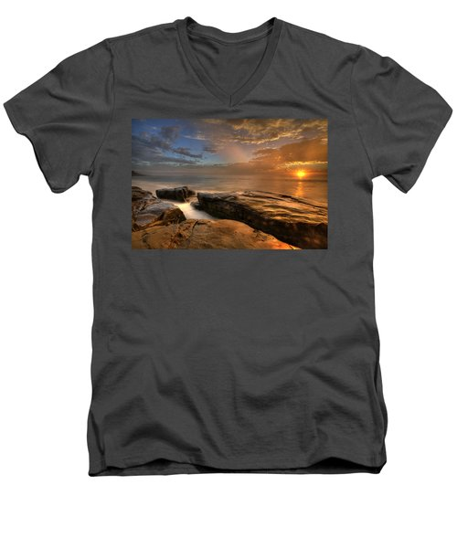 Windnsea Gold Men's V-Neck T-Shirt