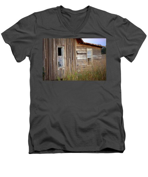 Men's V-Neck T-Shirt featuring the photograph Windows On The World by Gordon Elwell