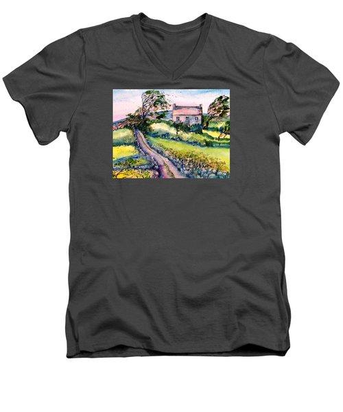 Windy Day Clear Island  Men's V-Neck T-Shirt by Trudi Doyle
