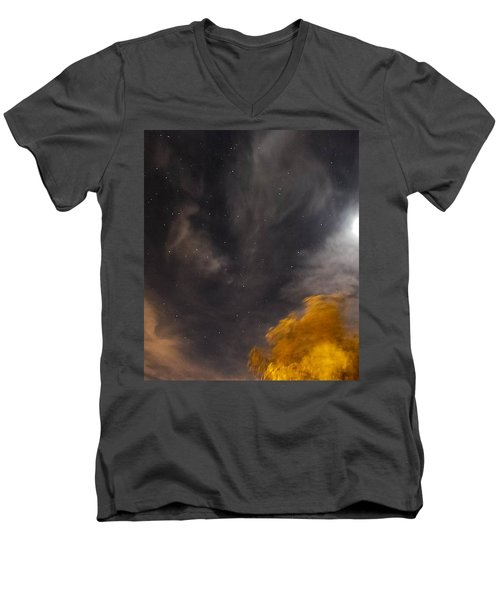 Windy Night Men's V-Neck T-Shirt by Angela J Wright