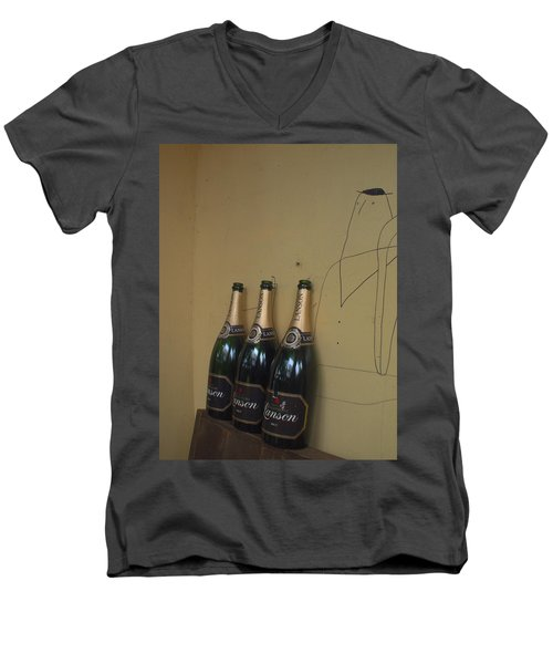 Wine And A Man Men's V-Neck T-Shirt