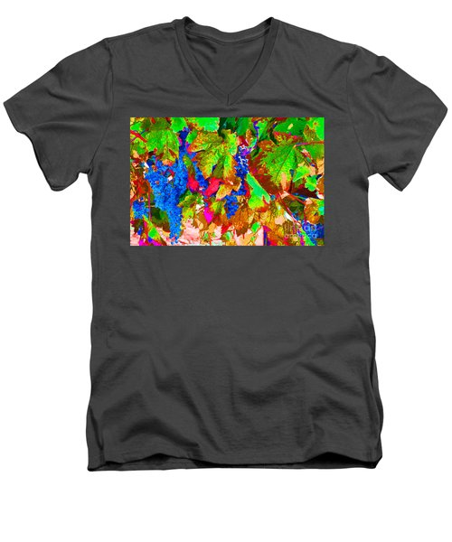 Men's V-Neck T-Shirt featuring the photograph Wine In Time by David Lawson
