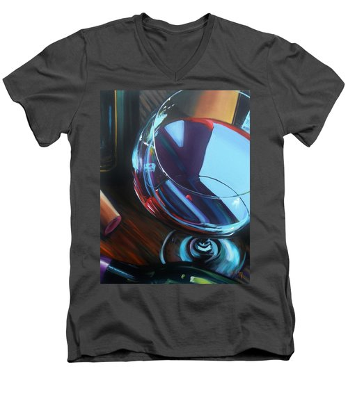 Wine Reflections Men's V-Neck T-Shirt