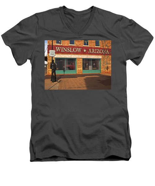 Winslow Arizona Men's V-Neck T-Shirt