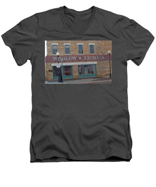 Winslow Arizona Men's V-Neck T-Shirt