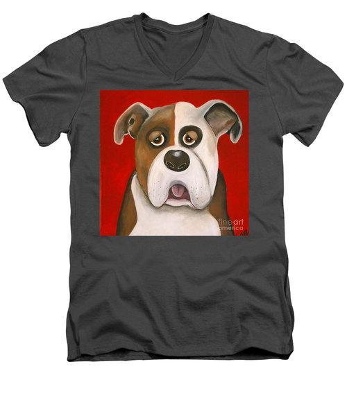 Winston The Dog Men's V-Neck T-Shirt