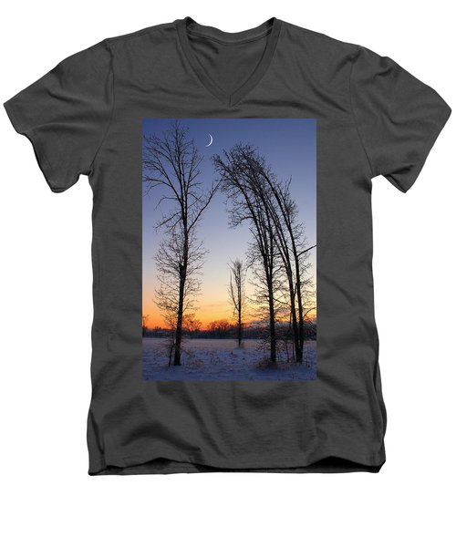 Winter At Dusk Men's V-Neck T-Shirt