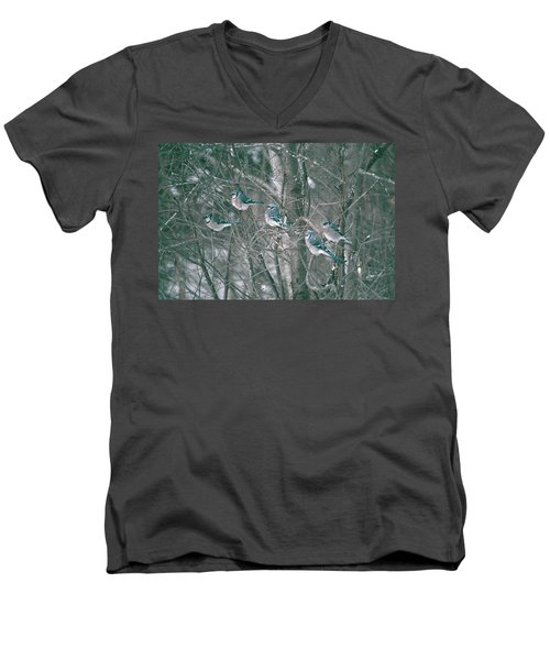 Men's V-Neck T-Shirt featuring the photograph Winter Conference by David Porteus