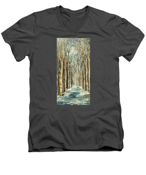 Winter Dreams Men's V-Neck T-Shirt by Tatiana Iliina