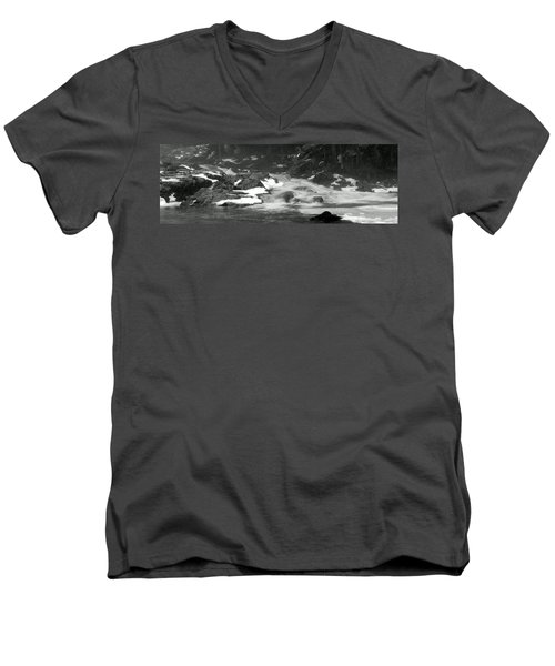 Winter Falls Men's V-Neck T-Shirt