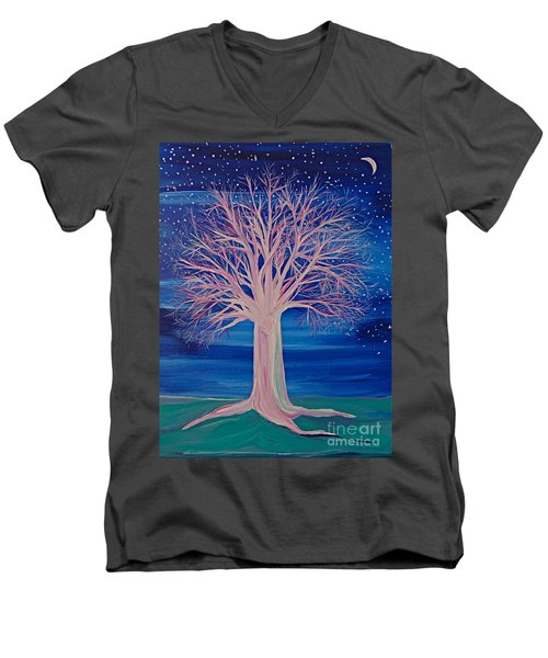 Winter Fantasy Tree Men's V-Neck T-Shirt