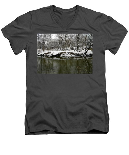 Winter Forest Series 2 Men's V-Neck T-Shirt by Verana Stark