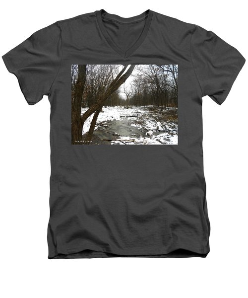Winter Forest Series Men's V-Neck T-Shirt by Verana Stark