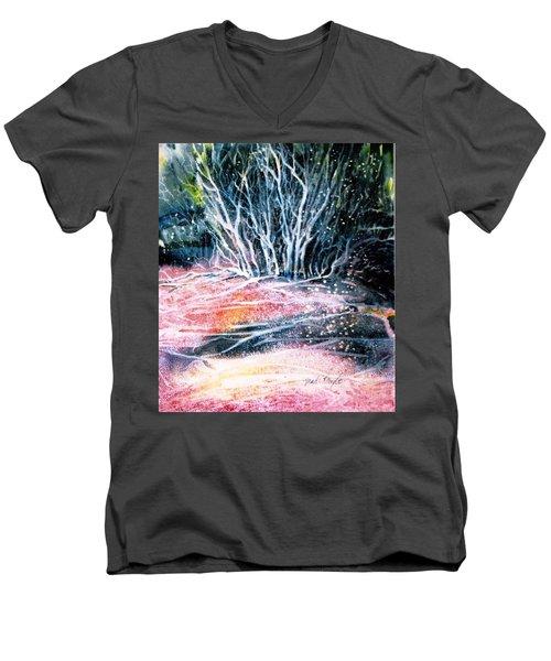 Winter Habitat No.1 Men's V-Neck T-Shirt by Trudi Doyle